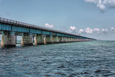 Photograph - A Section Of The Original Seven Mile Bridge by John M Bailey