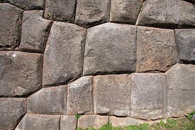 Photograph - A Section Of The Wall At Sacsayhuaman by Aidan Moran