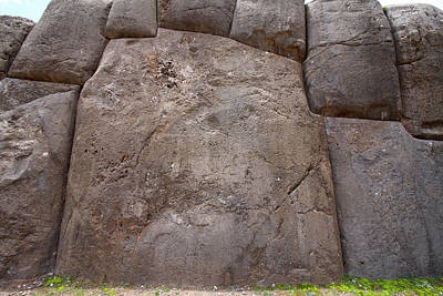 Photograph - A Section Of The Wall At Saksaywaman by Aidan Moran
