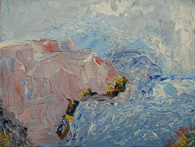 Painting - A Seething Ocean by Bennu Bennu