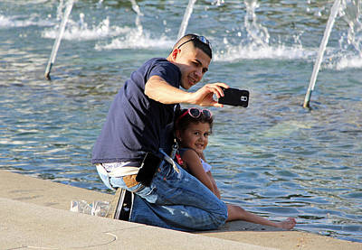Photograph - A Selfie With His Daughter by Cora Wandel