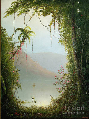 Nature Depiction Painting - A Serene Depiction Of The Tropics by Celestial Images