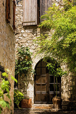 A Shadowy Alley In Saint Paul De Vence France Art Print by Maggie McCall