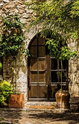 A Shadowy Door In Saint Paul De Vence France Art Print by Maggie McCall