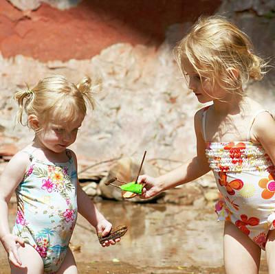 Blondie Photograph - A Sharing Sister by Derrick Neill