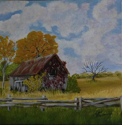 Wall Art - Painting - A Shed by Lisa MacDonald