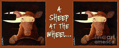 Painting - A Sheep At The Wheel... Coffee Mug by Will Bullas