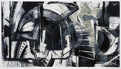 Xerox Mixed Media - A Shell Of Silence Dapples My Walls-aiken by Seymour Kleinberg