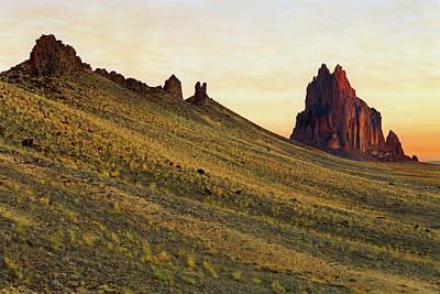 A Shiprock Sunrise - New Mexico - Landscape Art Print by Jason Politte