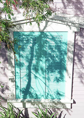 Photograph - A Shuttered Window In Pastels by Cora Wandel