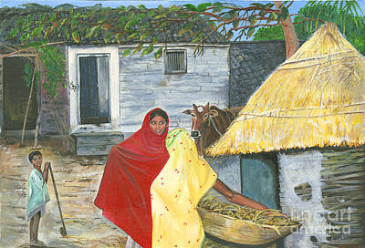 Painting - A Shy Woman by Sweta Prasad