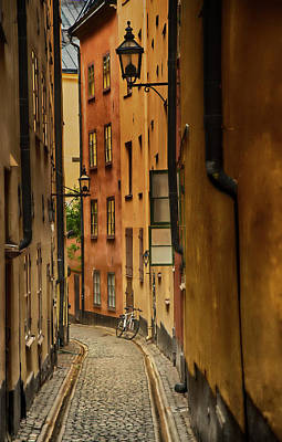 Photograph - A Side Street In Stockholm by Mick Burkey