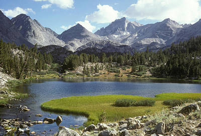 A Sierra Mountain Lake In Summer Art Print by Stephen Sharnoff