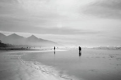 A Silver Day On The Beach Art Print by Dan Dooley