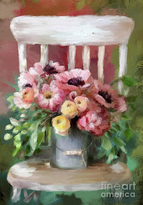 Painting - A Simple Bouquet by Shirley Stalter