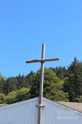 Photograph - A Simple Cross On Hwy 101 by Marie Neder