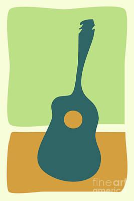 Digital Art - A Simple Guitar by Benjamin Harte