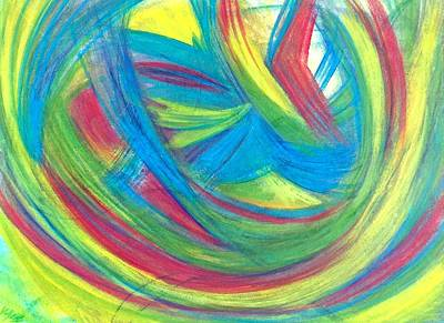Abstract Movement Drawing - 'a Simple Smile' by Kelly K H B