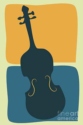 Digital Art - A Simple Violin by Benjamin Harte
