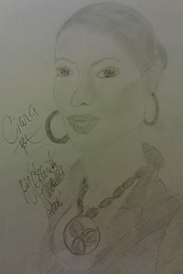 A Singer Ciara Art Print