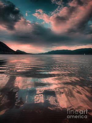 Okanagan Lake Photograph - A Single Boat  by Tara Turner