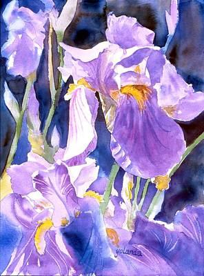 Painting - A Single Iris by Yolanda Koh