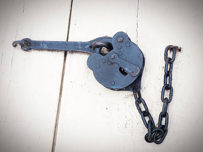 Photograph - A Single Old Padlock by Leslie Montgomery