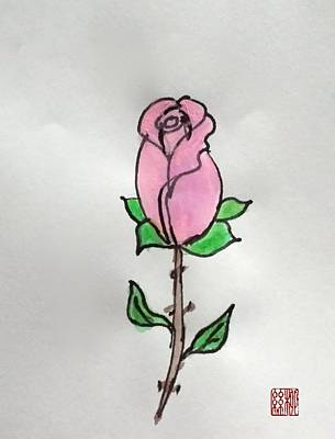 Painting - A Single Rose by Margaret Welsh Willowsilk