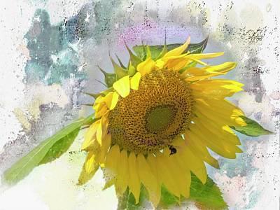 Digital Art - A Single Sunflower  by Rusty R Smith