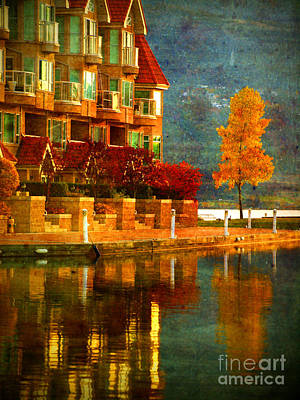 Kelowna Photograph - A Single Yellow Tree by Tara Turner