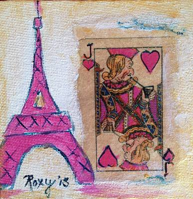 Cities Painting - A Sip Of Paris by Roxy Rich