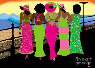 A Sister Walk  Original by Melvin Davis