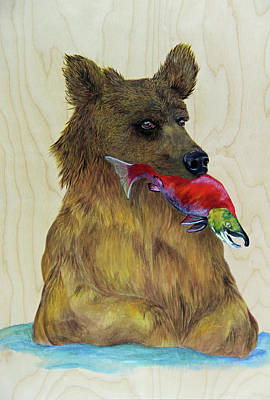 Brown Bear Painting - A Situation  by Lacey Hermiston