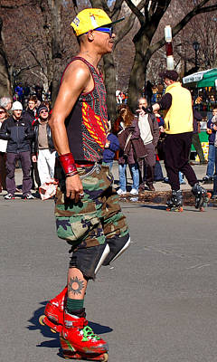 Newyork08 Photograph - A Skater In Central Park by RicardMN Photography