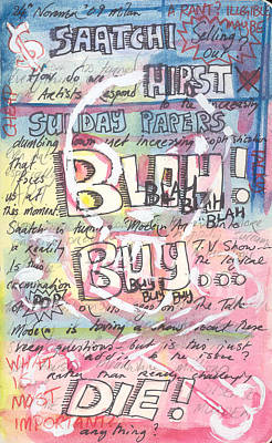 Response Mixed Media - A Sketchbook Page by Stuart Bracewell