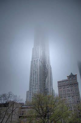 Photograph - A Skyscraper Scrapes by Mark Andrew Thomas