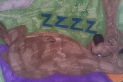 A Sleepy Bear Art Print