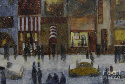 Painting - A Slice Of Night Life by Glenn Quist