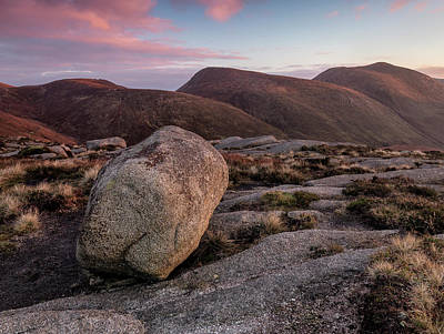 Photograph - A Slievenaglogh Rock In Fading Golden Light  by Glen Sumner