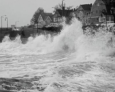 Photograph - A Slight Splash On The Lynn Waterfront Lynn Ma Storm by Toby McGuire