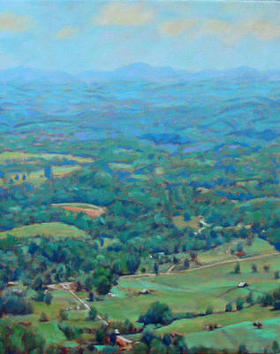 Painting - A Slow Summer's Day- View From Roanoke Mountain by Bonnie Mason