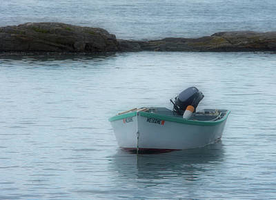 Photograph - A Small Boat In Casco Bay by Guy Whiteley