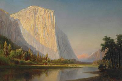 A Small Encampment In Yosemite Valley Art Print