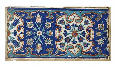 Iznik Tile Painting - A Small Iznik Pottery Tile by Eastern Accents