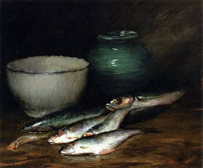 Jordan Painting - A Small Pile Of Fish William Merritt Chase by MotionAge Designs
