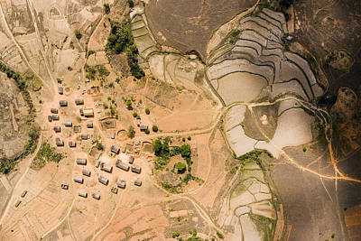 A Small Rice Village In The Central Art Print by Michael Fay