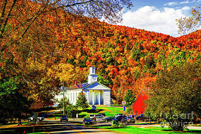 Photograph - A Small Town In Vermont by Rick Bragan