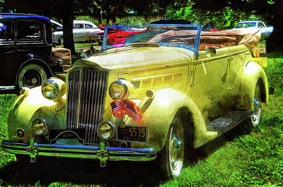 Photograph - A Snappy Looking 1937 Packard Convertible by Thom Zehrfeld