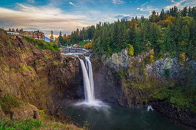 Photograph - A Snoqualmie Falls  Autumn by Ken Stanback