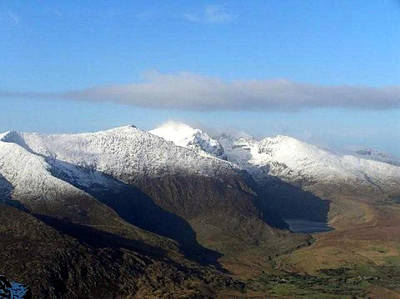Photograph - A Snow Topped Mount Brandon Dingle  by Noel O Neill